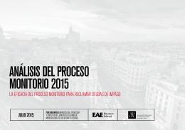 ANÁLISIS DEL PROCESO MONITORIO 2015