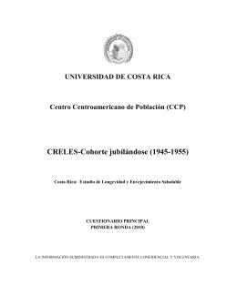 (CCP) CRELES-Cohorte jubilándose (1945