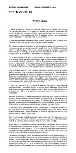 Ciencias Sociales - Ministerio de Educación