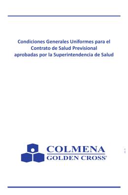 Condiciones Generales Uniformes para el Contrato de Salud