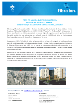 Fibra Inn anuncia que utilizará la marca Fairfield Inn & Suites by