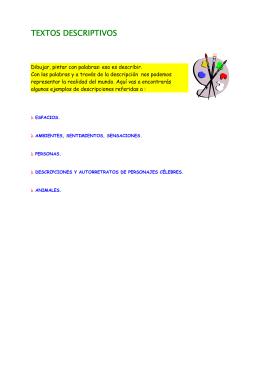 TEXTOS DESCRIPTIVOS - Educastur Hospedaje Web