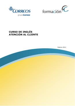 CURSO DE INGLÉS ATENCIÓN AL CLIENTE
