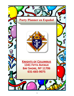 Knights of Columbus 1341 Fifth Avenue Bay Shore, NY 11706 631