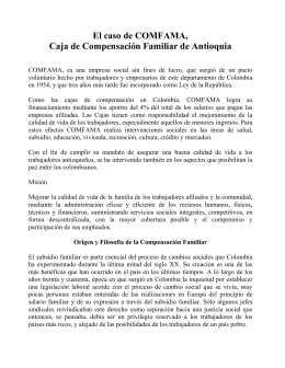 COMFAMA, Caja de Compensación Familiar de Antioquia