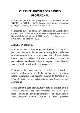 CURSO DE ADIESTRADOR CANINO PROFESIONAL - Lord-Can