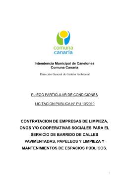 Intendencia Municipal de Canelones – Comuna Canaria