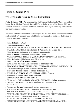 Fisica de Suelos PDF ==>Download: Fisica de Suelos PDF eBook