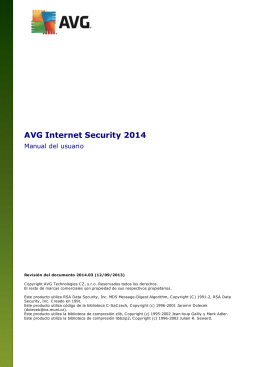 Manual del usuario AVG Internet Security