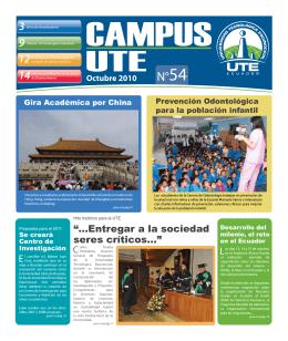 Campus UTE # 54 Octubre 2010 - Universidad Tecnológica