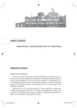 Guión litúrgico - Conferencia Episcopal Española