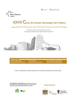 Programa del curso - Hospital Universitari Vall d`Hebron