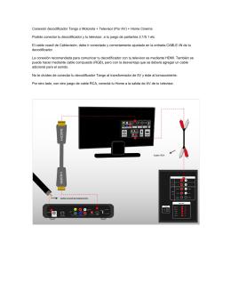 Conexión decodificador Tango o Motorola + Televisor