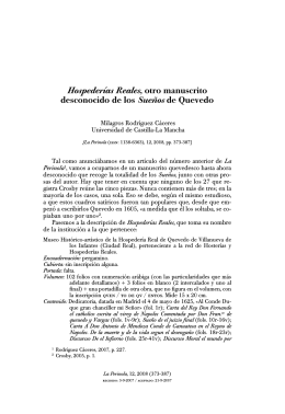 Hospederías Reales, otro manuscrito desconocido de los