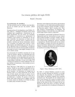 La ciencia pública del siglo XVII.