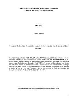 MINISTERIO DE ECONOMIA, INDUSTRIA Y COMERCIO COMISION