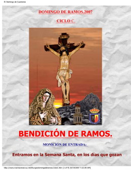 Domingo de Ramos, Ciclo C
