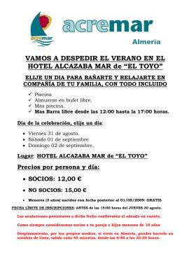"""HOTEL ALCAZABA MAR de """"EL TOYO"""""""