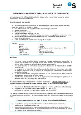 PAGO FINANCIADO EN SEIS PLAZOS (Banco Sabadell FINCOM).