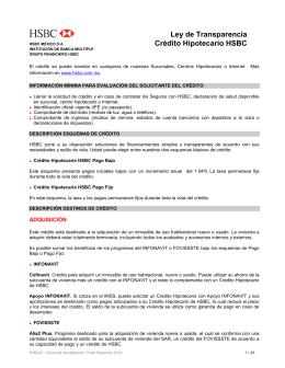 Ley de transparencia cr dito hipotecario hsbc Numero telefonico del ministerio del interior
