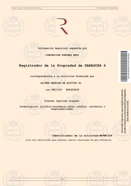 Registrador de la Propiedad de ZARAGOZA 4