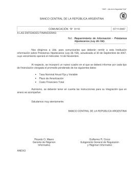 """""""B"""" 9118 - Banco Central de la República Argentina"""