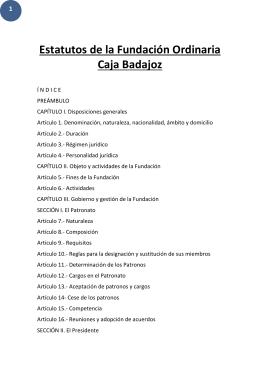 Estatutos - Fundación Caja de Badajoz