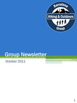 Group Newsletter