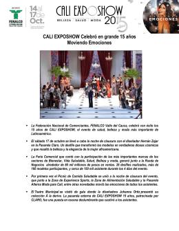 CALI EXPOSHOW Celebró en grande 15 años Moviendo Emociones