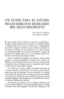 un guión para el estudio de los ejércitos mexicanos del siglo