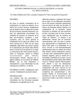 ESTUDIO COMPARATIVO DE LA CRISTALIZACIÓN DE LA SALIVA