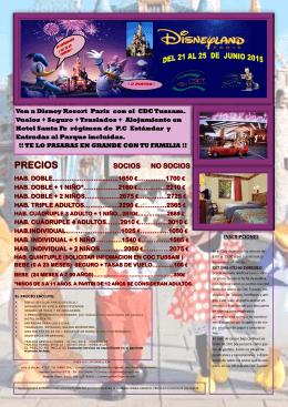 Ven a Disney Resort Paris con el CDC Tussam. Vuelos + Seguro +