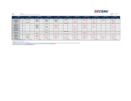 CSAV schedules - Week 43
