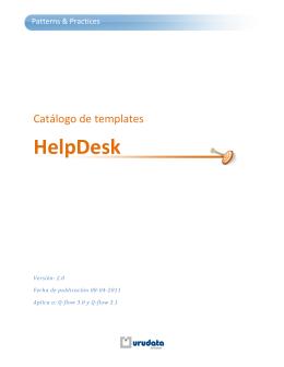 Catálogo de templates: Proceso de HelpDesk