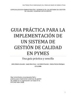 Guía Práctica Para la Implementación de un Sistema de Gestión