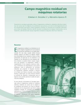 Campo magnético residual en máquinas rotatorias