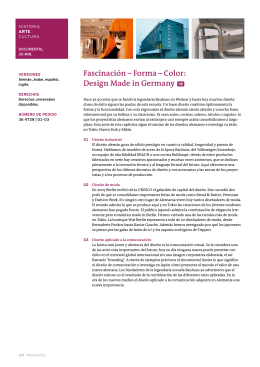 Fascinación – Forma – Color: Design Made in Germany