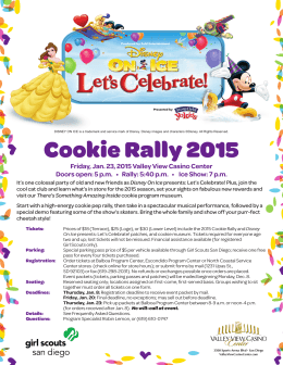 Cookie Rally 2015 - Girl Scouts San Diego