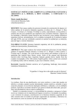 estéticas y poéticas del jardín en la literatura fantástica argentina (jl