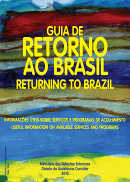 GUIA DE RETURNING TO BRAZIL - Consulado