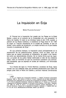 La Inquisición en Écija - Revistas Científicas de la UNED