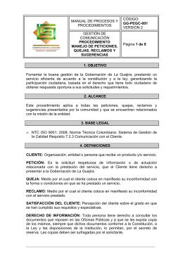 MANUAL DE PROCESOS Y PROCEDIMIENTOS CÓDIGO: GG