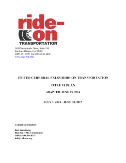 Ride-On Title VI - Ride-On Transportation of San Luis Obispo County
