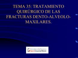 Fracturas dento-alveolares - OCW-UV