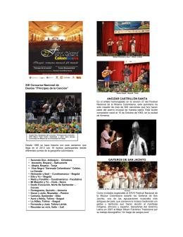 "XIX Concurso Nacional de Duetos ""Príncipes de la Canción"