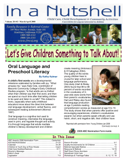 March-Apr 2008 newsletter - Family Resource and Referral Center