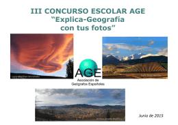 "III CONCURSO ESCOLAR AGE ""Explica"