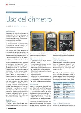 Uso del óhmetro - ElectroSector.com