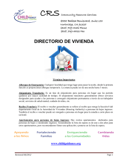 DIRECTORIO DE VIVIENDA - Child and Family Guidance Center