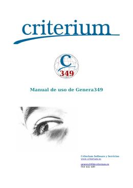 Manual de uso de Genera349